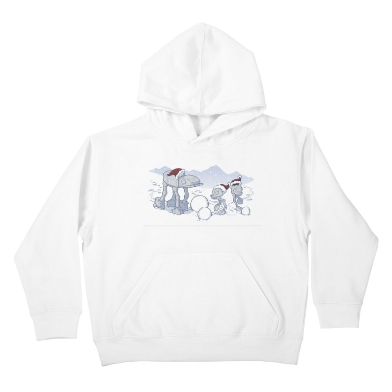 Happy Hoth-idays! Kids Pullover Hoody by BRETT WISEMAN