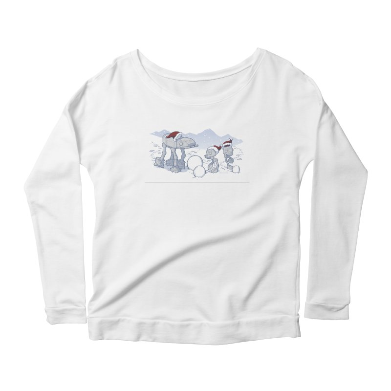 Happy Hoth-idays! Women's Scoop Neck Longsleeve T-Shirt by BRETT WISEMAN