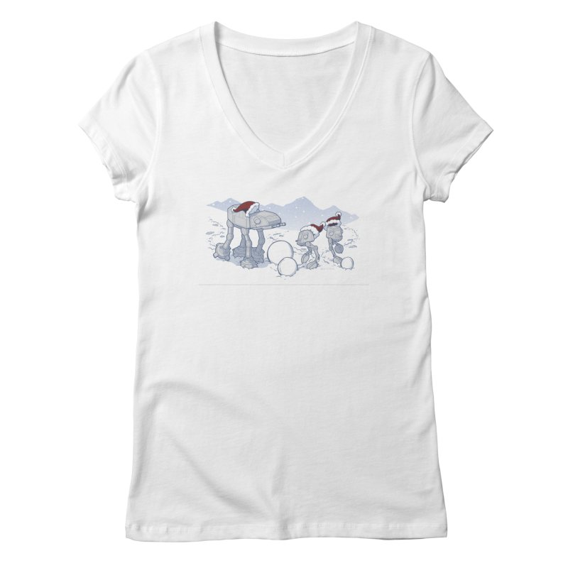 Happy Hoth-idays! Women's V-Neck by BRETT WISEMAN