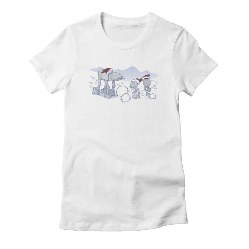 Happy Hoth-idays! Women's Fitted T-Shirt by BRETT WISEMAN