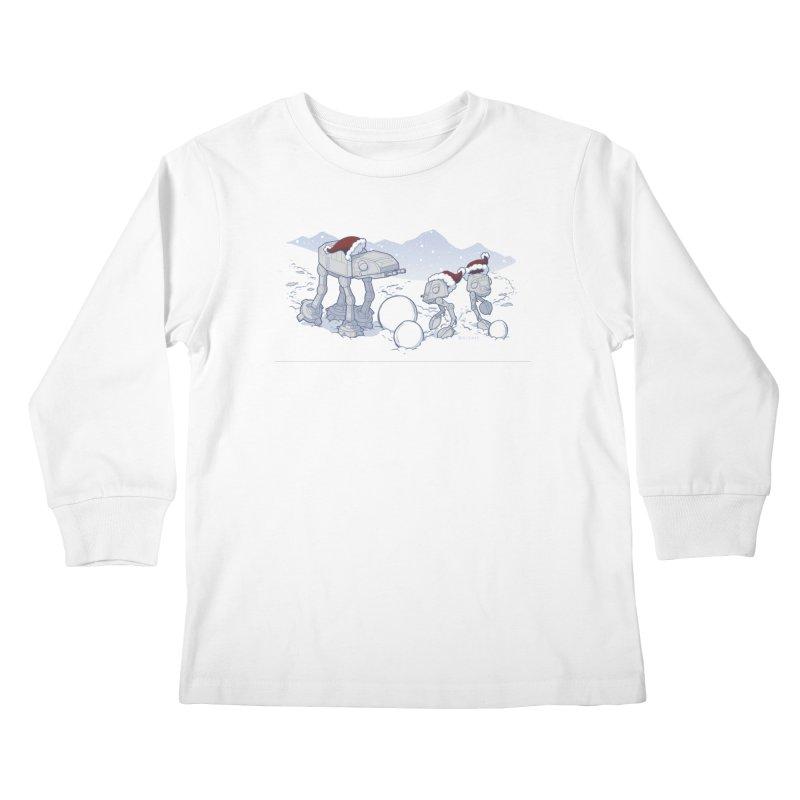 Happy Hoth-idays! Kids Longsleeve T-Shirt by BRETT WISEMAN