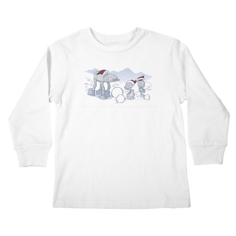 Happy Hoth-idays! Kids Longsleeve T-Shirt by BRETT WISEMAN