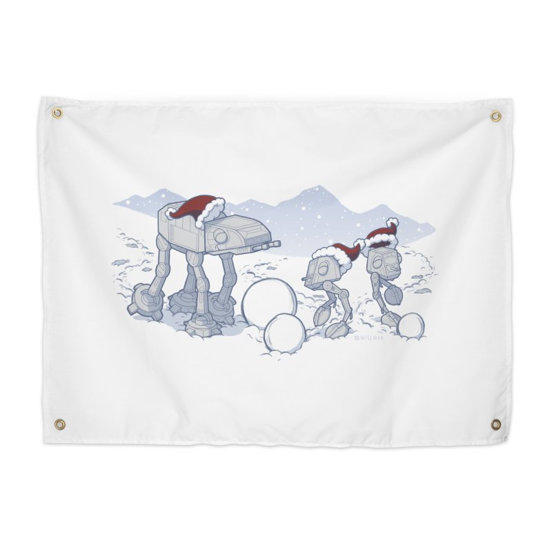 Happy Hoth-idays! Home Tapestry by BRETT WISEMAN