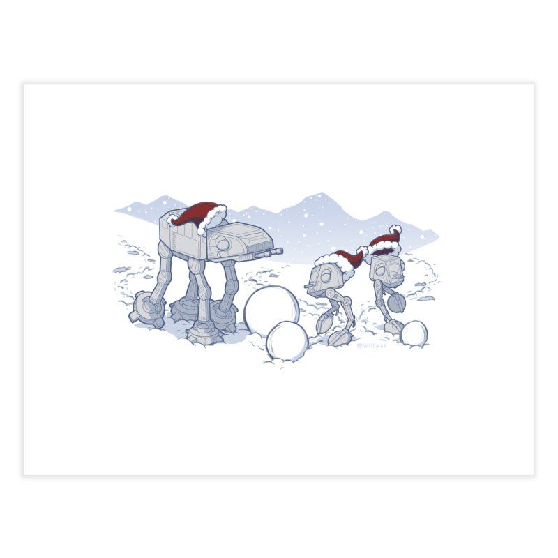 Happy Hoth-idays! Home Fine Art Print by BRETT WISEMAN
