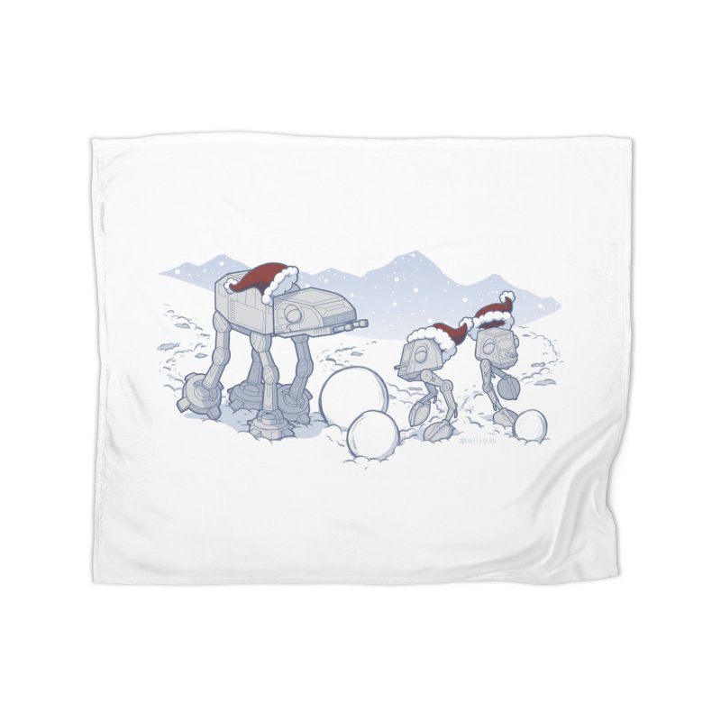 Happy Hoth-idays! Home Fleece Blanket Blanket by BRETT WISEMAN