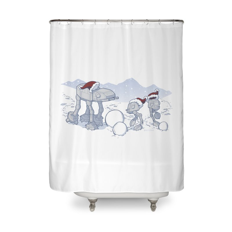 Happy Hoth-idays! Home Shower Curtain by BRETT WISEMAN
