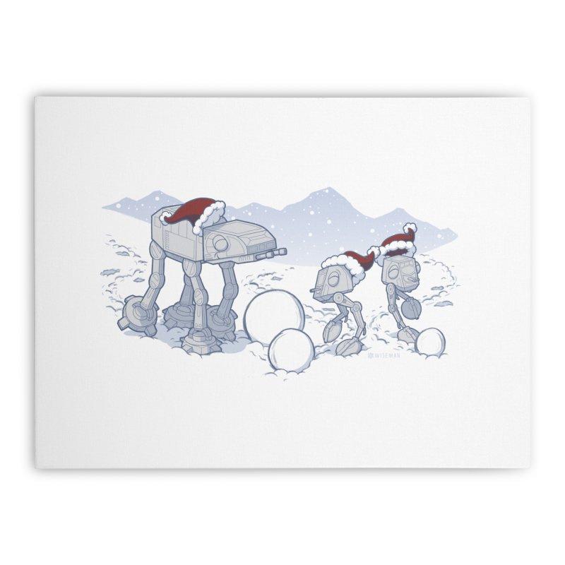 Happy Hoth-idays! Home Stretched Canvas by BRETT WISEMAN