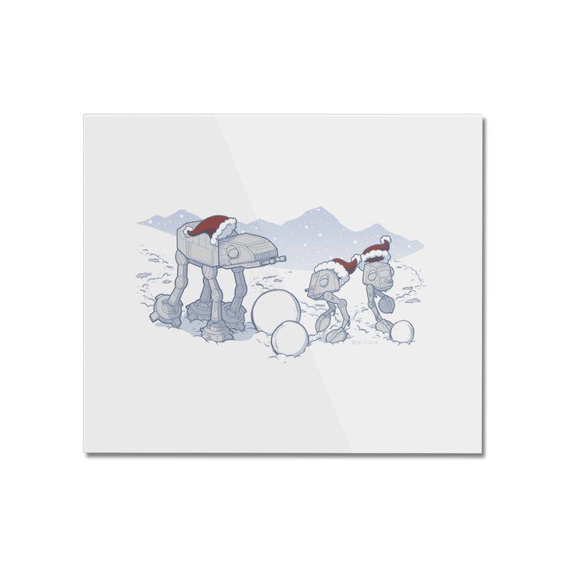Happy Hoth-idays! Home Mounted Acrylic Print by BRETT WISEMAN