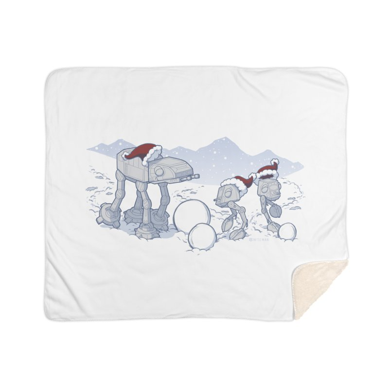Happy Hoth-idays! Home Sherpa Blanket Blanket by BRETT WISEMAN