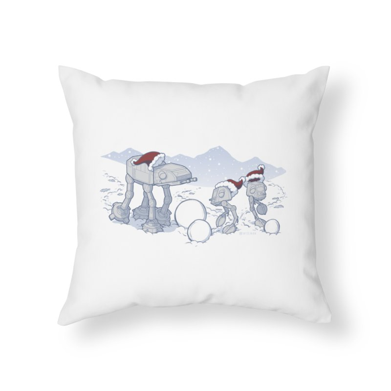 Happy Hoth-idays! Home Throw Pillow by BRETT WISEMAN
