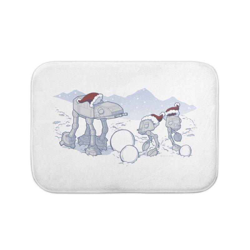 Happy Hoth-idays! Home Bath Mat by BRETT WISEMAN
