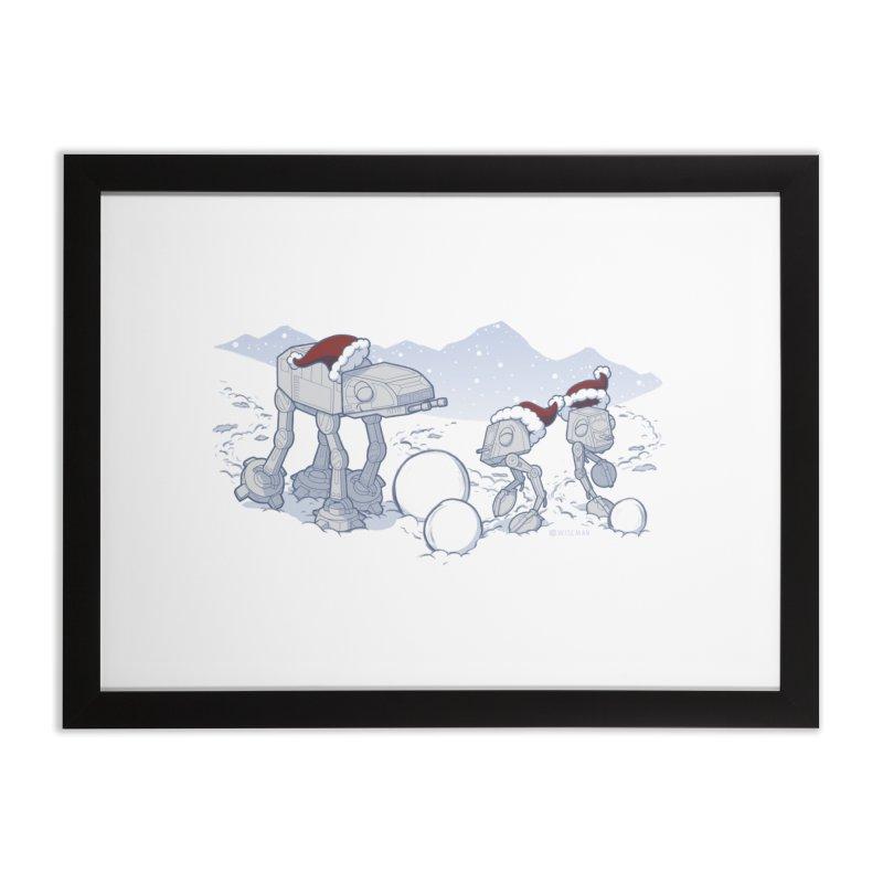 Happy Hoth-idays! Home Framed Fine Art Print by BRETT WISEMAN