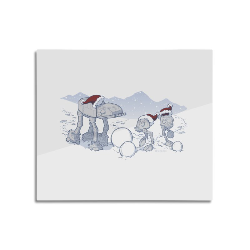 Happy Hoth-idays! Home Mounted Aluminum Print by BRETT WISEMAN
