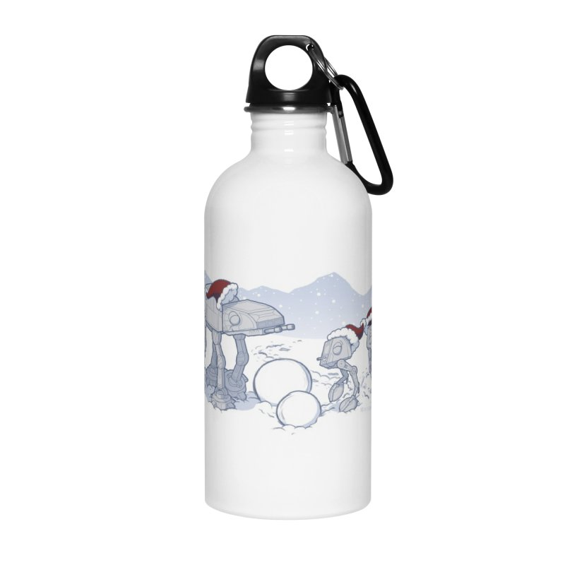 Happy Hoth-idays! Accessories Water Bottle by BRETT WISEMAN