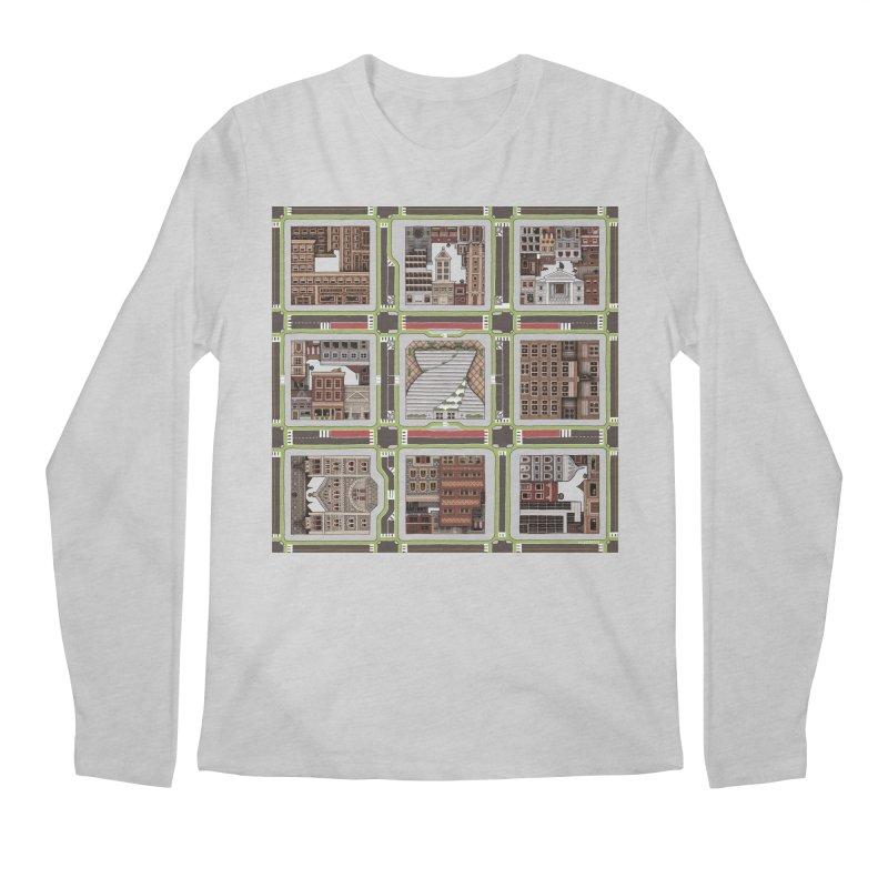 Urban Plaid Men's Longsleeve T-Shirt by BRETT WISEMAN