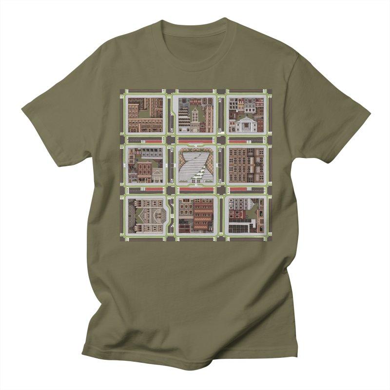 Urban Plaid Men's T-Shirt by BRETT WISEMAN