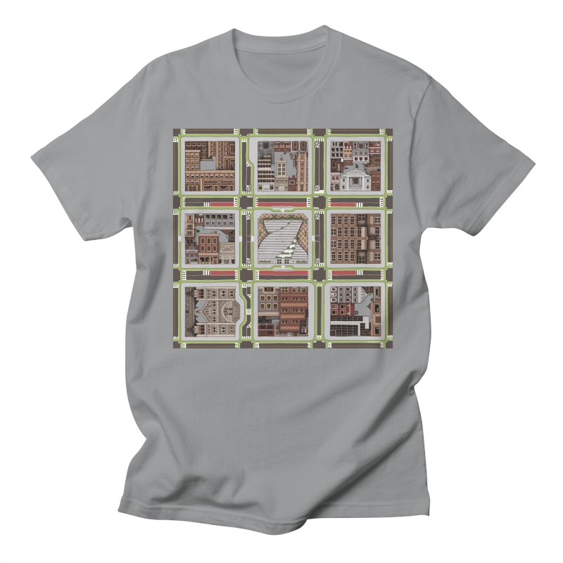 Urban Plaid Men's T-Shirt by BRETT WISEMAN