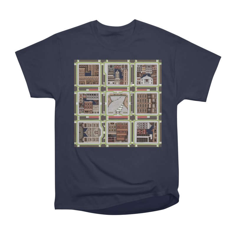 Urban Plaid Men's Heavyweight T-Shirt by BRETT WISEMAN