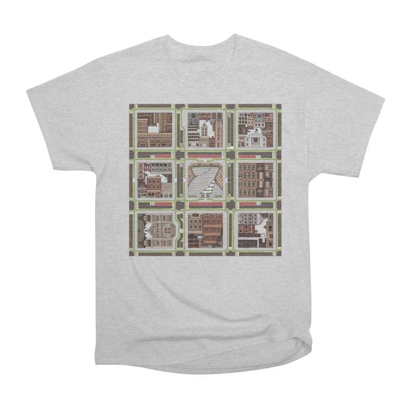 Urban Plaid Men's Heavyweight T-Shirt by BRETT WISEMAN