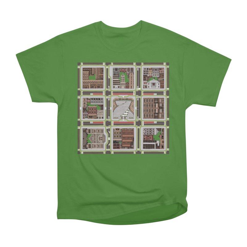 Urban Plaid Men's Classic T-Shirt by BRETT WISEMAN