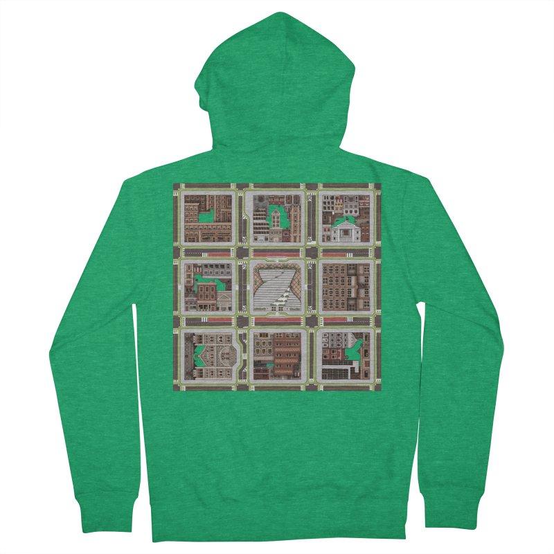 Urban Plaid Men's Zip-Up Hoody by BRETT WISEMAN