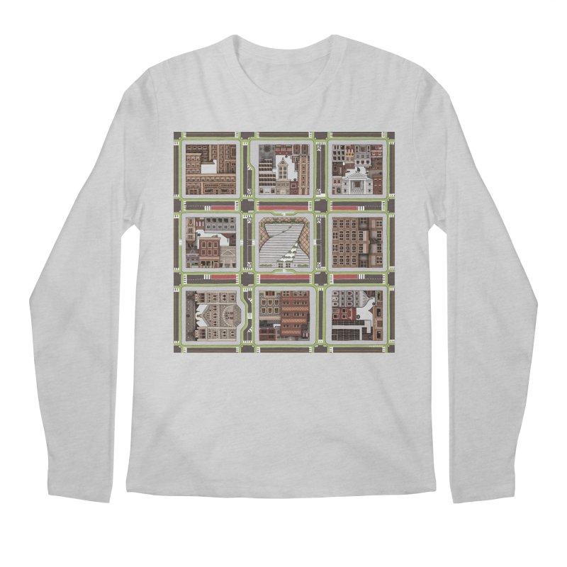 Urban Plaid Men's Regular Longsleeve T-Shirt by BRETT WISEMAN