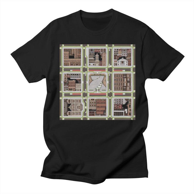 Urban Plaid Men's Regular T-Shirt by BRETT WISEMAN