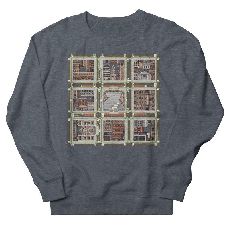 Urban Plaid Women's French Terry Sweatshirt by BRETT WISEMAN