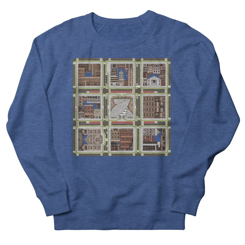 Urban Plaid Men's French Terry Sweatshirt by BRETT WISEMAN