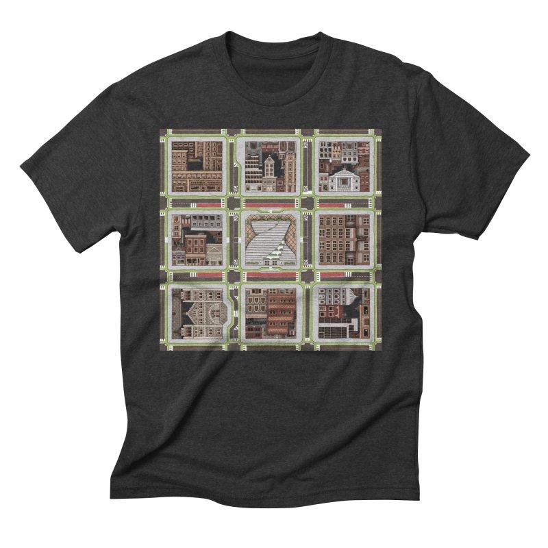 Urban Plaid Men's Triblend T-Shirt by BRETT WISEMAN