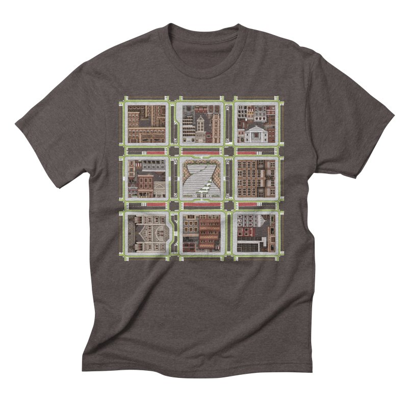 Urban Plaid Men's Triblend T-Shirt by BRETT WISEMAN