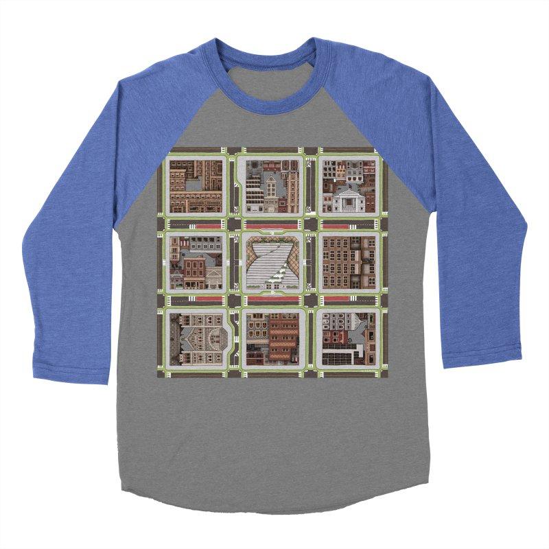 Urban Plaid Men's Baseball Triblend T-Shirt by BRETT WISEMAN