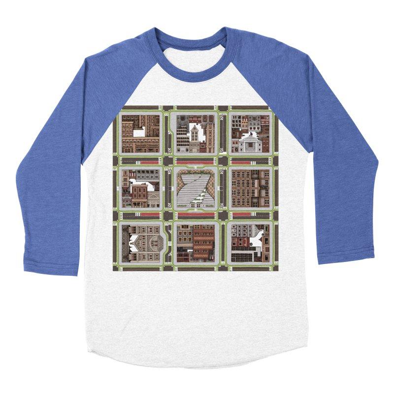 Urban Plaid Men's Baseball Triblend Longsleeve T-Shirt by BRETT WISEMAN