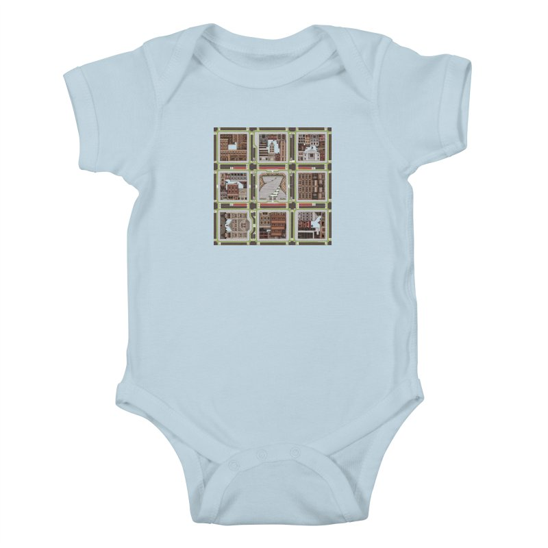 Urban Plaid Kids Baby Bodysuit by BRETT WISEMAN
