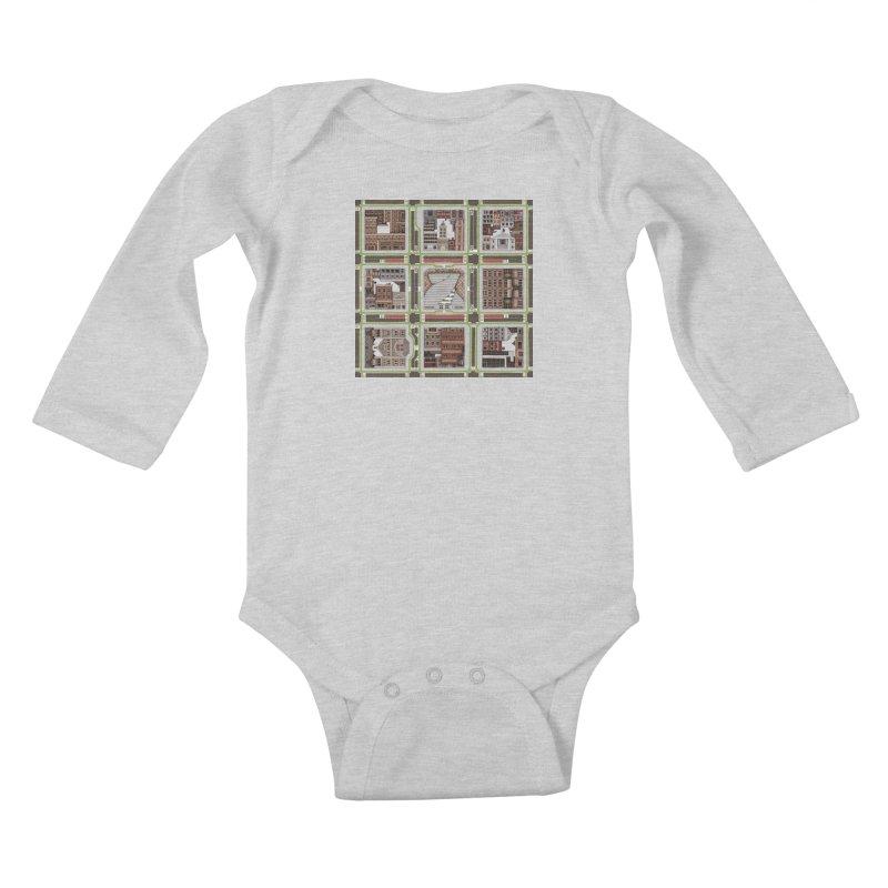 Urban Plaid Kids Baby Longsleeve Bodysuit by BRETT WISEMAN