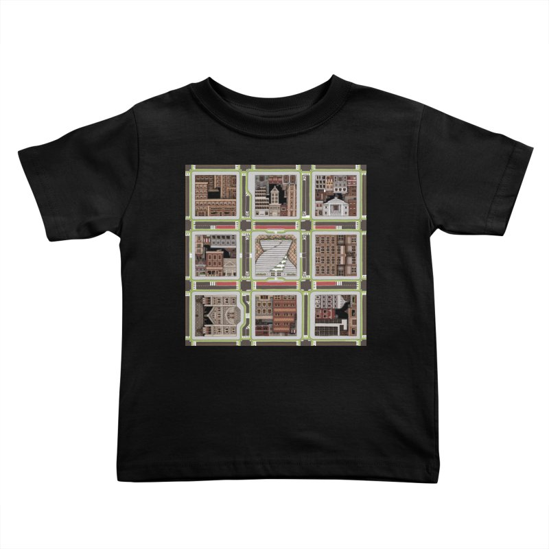 Urban Plaid Kids Toddler T-Shirt by BRETT WISEMAN