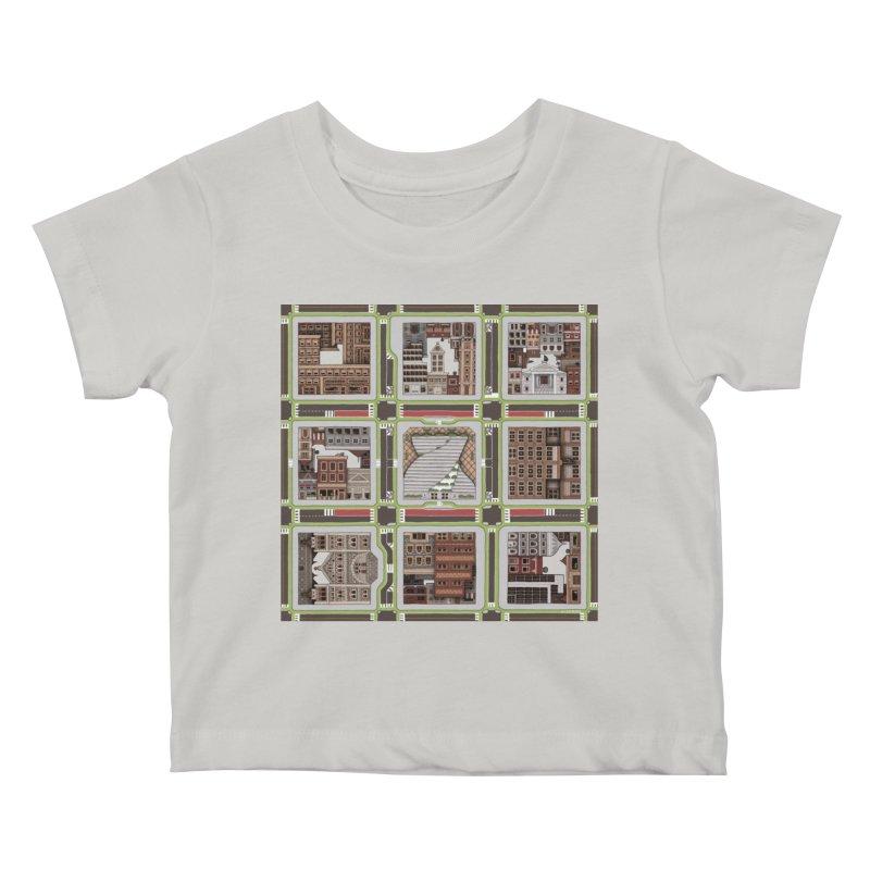 Urban Plaid Kids Baby T-Shirt by BRETT WISEMAN