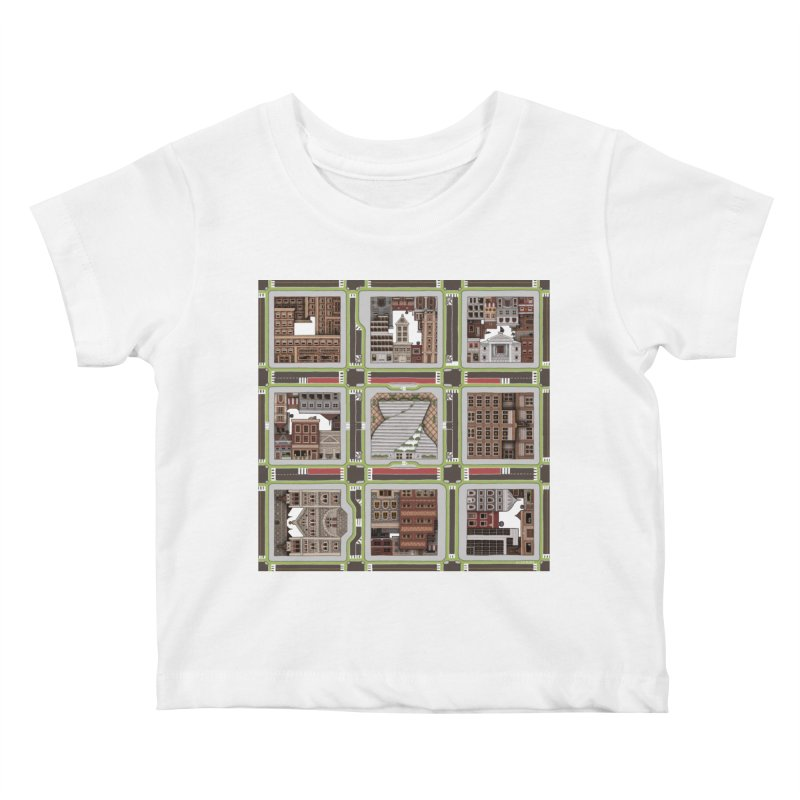 Urban Plaid Kids Baby T-Shirt by BRETT WISEMAN