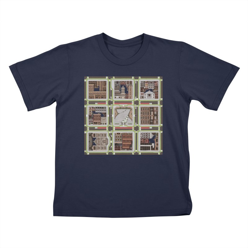 Urban Plaid Kids T-Shirt by BRETT WISEMAN