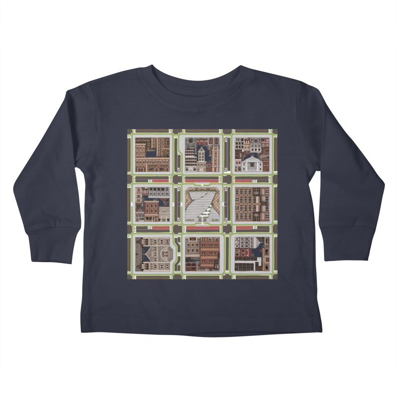 Urban Plaid Kids Toddler Longsleeve T-Shirt by BRETT WISEMAN