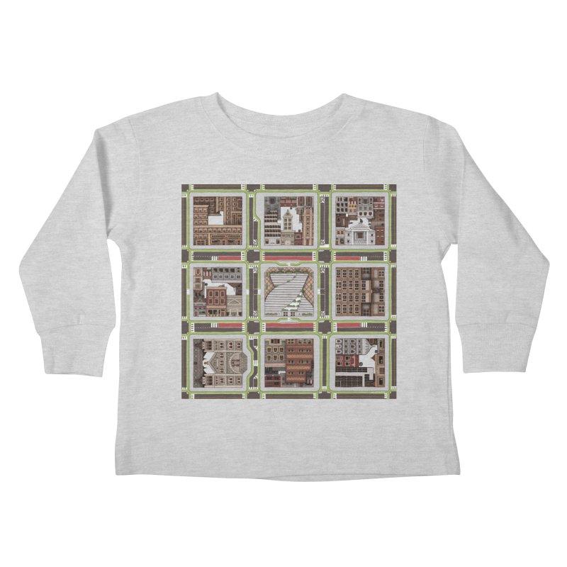 Urban Plaid Kids Toddler Longsleeve T-Shirt by BRETT WISEMAN