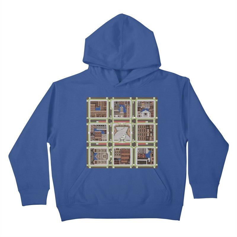 Urban Plaid Kids Pullover Hoody by BRETT WISEMAN