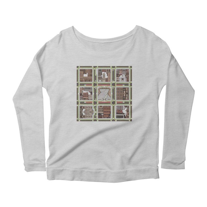 Urban Plaid Women's Scoop Neck Longsleeve T-Shirt by BRETT WISEMAN