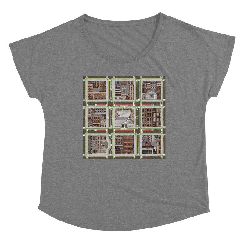 Urban Plaid Women's Scoop Neck by BRETT WISEMAN