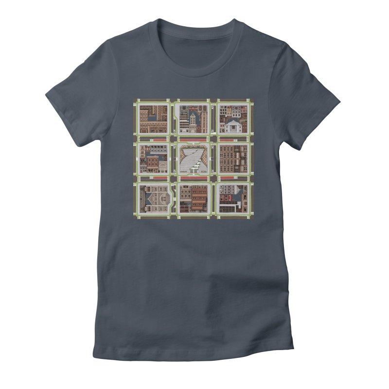 Urban Plaid Women's Fitted T-Shirt by BRETT WISEMAN