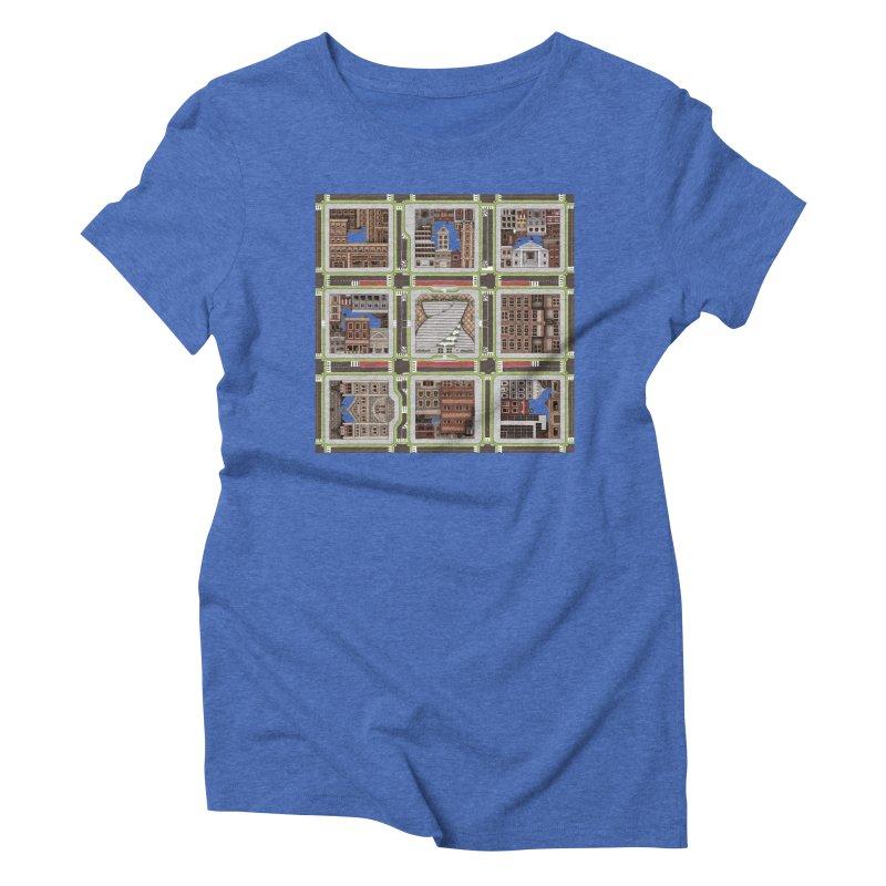 Urban Plaid Women's Triblend T-Shirt by BRETT WISEMAN