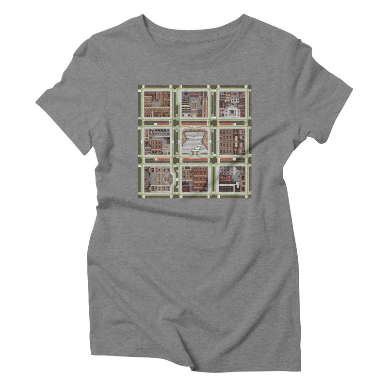Urban Plaid Women's Triblend T-Shirt by BRETT WISEMAN