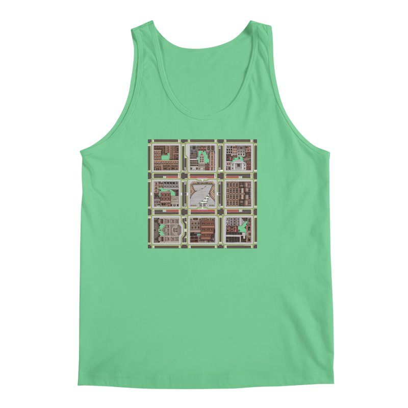 Urban Plaid Men's Regular Tank by BRETT WISEMAN