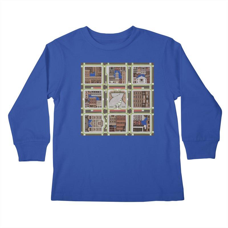 Urban Plaid Kids Longsleeve T-Shirt by BRETT WISEMAN