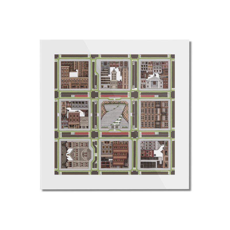 Urban Plaid Home Mounted Acrylic Print by BRETT WISEMAN
